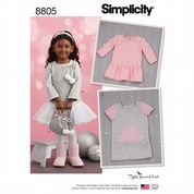 8805 Simplicity Pattern: Toddler Dress with Skirt Option